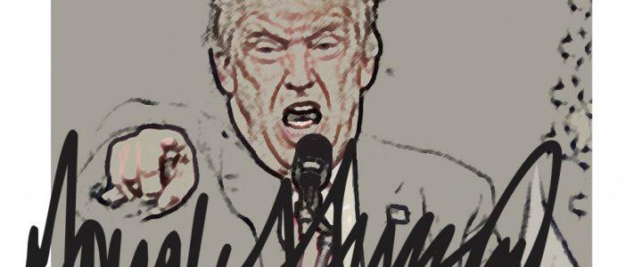 Trump mit Unterschrift